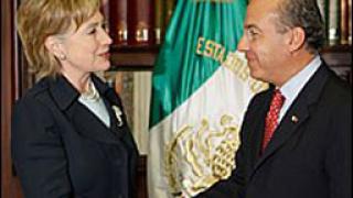 Клинтън: САЩ дели с Мексико вината за наркотрафика