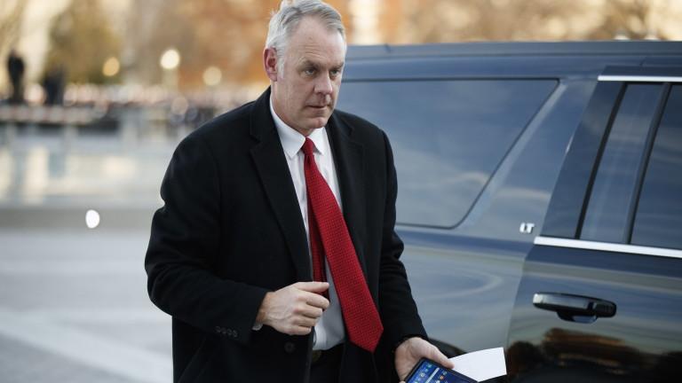 Вътрешният министър на САЩ Райън Зинке ще подаде оставка в