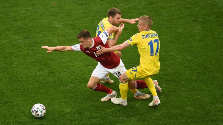 Украйна - Австрия 0:1, гол на Кристоф Баумгартнер