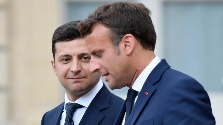 Президентът на Украйна Володимир Зеленски проведе телефонен разговор с френския