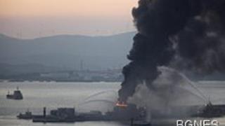 Експлозия на петролен танкер в Гибралтар