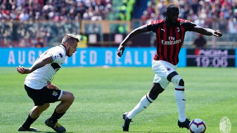 Снимка: Парма измъкна точка от Милан с късен гол