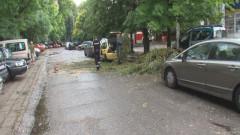 Буря в Пловдив едва не взе жертви