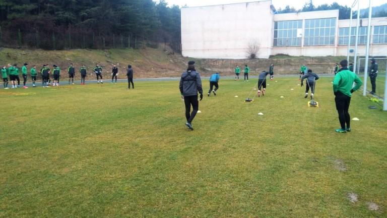Футболистите на Берое продължават да се готвят за предстоящия мач