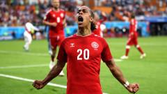 Юсуф Поулсен стана Играч на мача Перу - Дания
