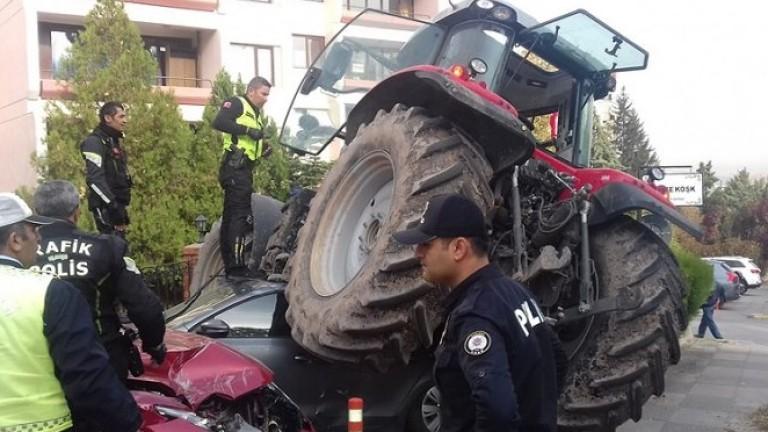 Турската полиция е простреляла шофьор на трактор, след като отказал