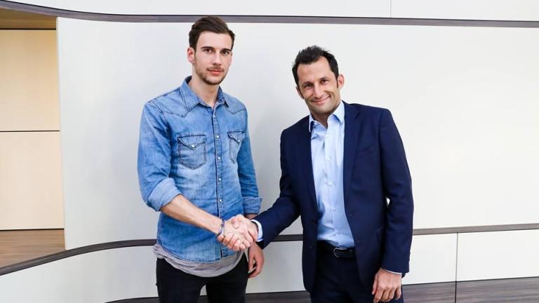 Ръководството на Байерн (Мюнхен) официално обяви привличането на Леон Горецка.