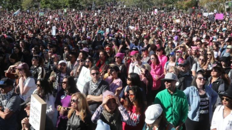 Мащабен протест на жените се състоя в Лос Анжелис година