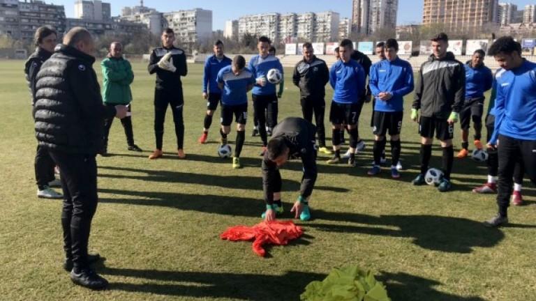 Кононго и Божилов се присъединиха към тренировките в Черно море