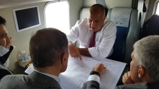 """Премиерът инспектира с хеликоптер строежа на """"Балкански поток"""""""