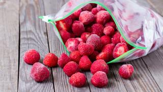 Един трик за замразяване на ягоди