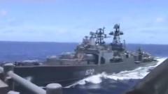 """Видео от """"сблъсъка"""" на бойните кораби на САЩ и Русия в Източнокитайско море"""