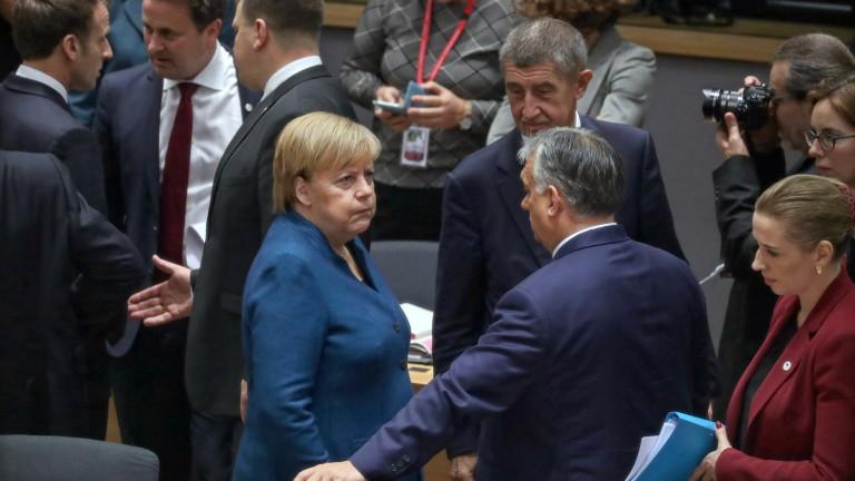 Канцлерът на Германия Ангела Меркел заявила пред лидерите на ЕС,
