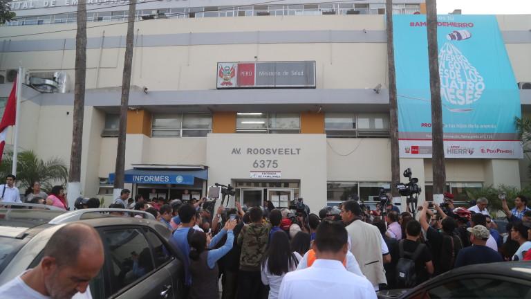 Снимка: Почина прострелялият се експрезидент на Перу Алан Гарсия