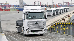 Hyundai достави първите 7 камиона с водород в Швейцария