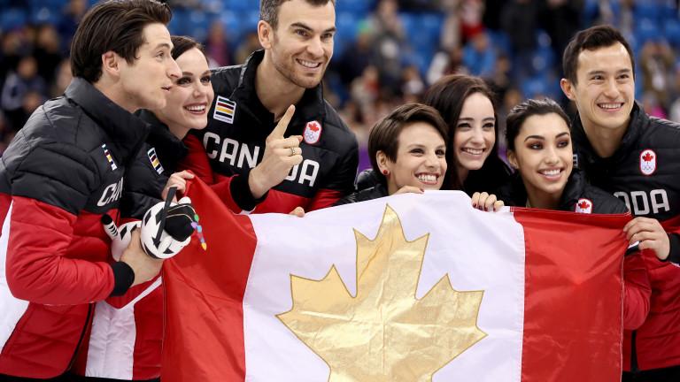 Канада грабна златото в отборното състезание по фигурно пързаляне
