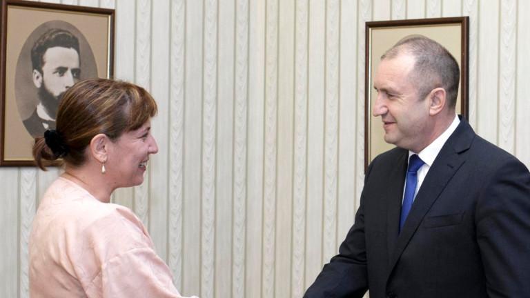 Румен Радев и Теодора Точкова обсъдиха бързото правосъдие