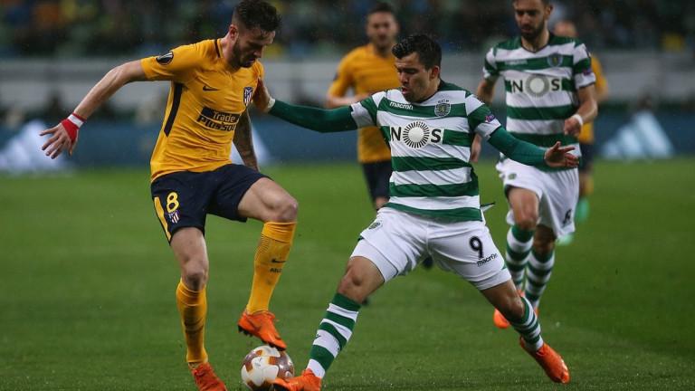 Спортинг поизпоти Атлетико, но се размина с полуфинала в Лига Европа