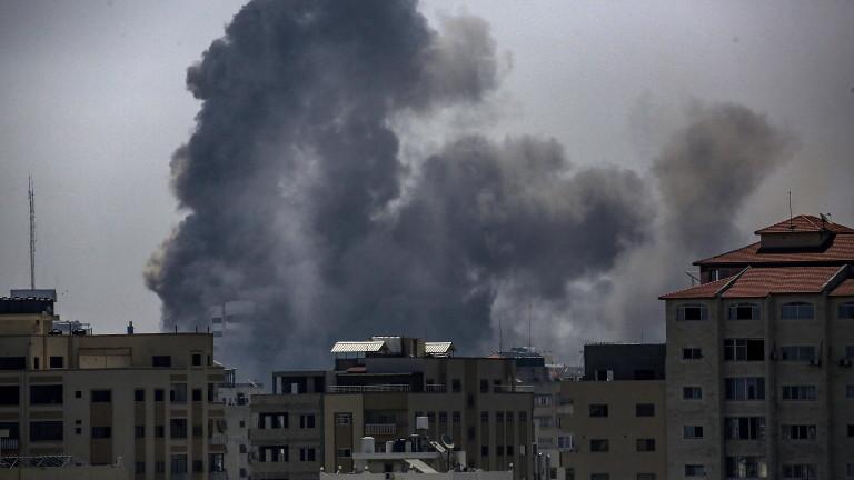 Израелски изтребители обстрелват терористични цели в Газа