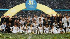 """Реал (Мадрид) продължи перфектната серия на Зидан, """"белите"""" грабнаха Суперкупата на Испания след дузпи"""