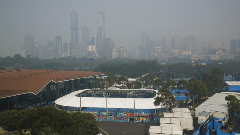 Мръсният въздух в Мелбърн отказа тенисистка от мача й