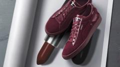 Обувки с цвят на червило
