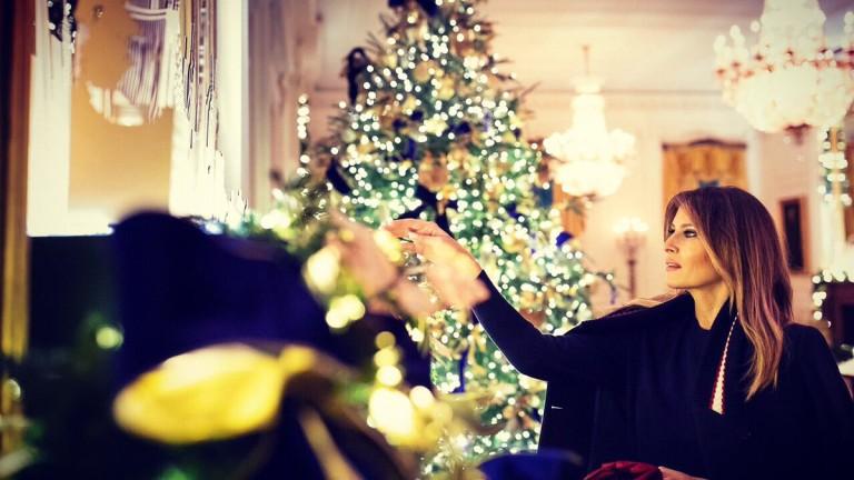 Коледният гаф на Мелания Тръмп