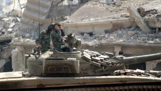 Боеве с Ислямска държава на юг от Дамаск