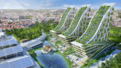 Архитект прави висящи градини в индустриалната зона на Брюксел (СНИМКИ)