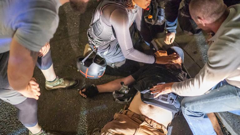 Демонстрантите се събраха в Ню Йорк в сряда вечер, за