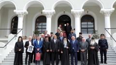 Борисов на поклонение в Зографския манастир на Атон