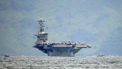 Американски самолетоносач с учения в Южнокитайско море