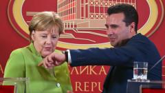 От Скопие Меркел благодари на Борисов и България за пробива на Балканите