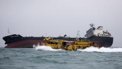 Силен взрив на танкер край Хонконг