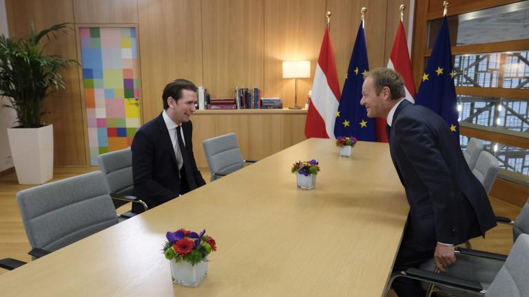 Канцлерът на Австрия Себастиан Курц изрази надежда, че британските депутати