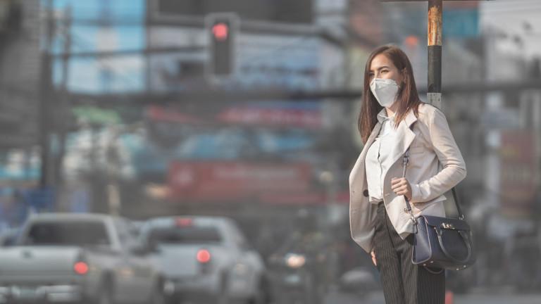 Замърсяването на въздуха свързано с 15% от починалите от COVID-19