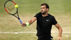 Григор Димитров - Фелисиано Лопес 5-7, 3-2, мачът е прекъснат