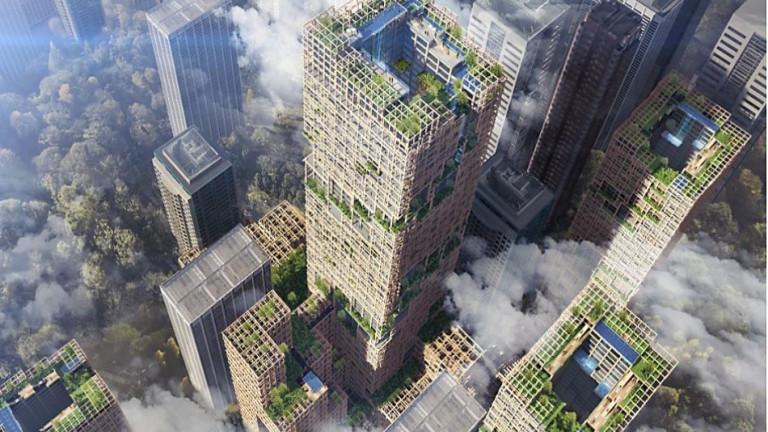 Японска компания планира да построи най-високия дървен небостъргач в света,