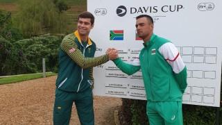 "Кузманов показа воля и характер и изравни резултата срещу Южна Африка за Купа ""Дейвис"""