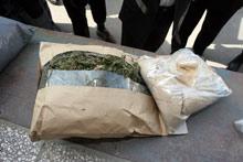 Осем тона канабис конфискува иранската полиция