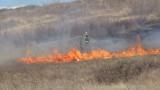 Пенсионер подпали 100 дка треви, докато вари буркани