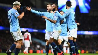 """Хеттрик на Агуеро върна Сити към победите, Арсенал не оказа съпротива на """"гражданите"""""""