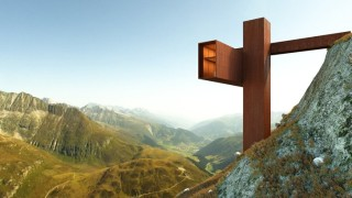 Това е жилище в швейцарските Алпи