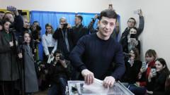 Президентски избори в Украйна: Комикът е начело преди първия кръг