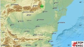 Земетресение 3.5 по Рихтер на 140 километра от Букурещ