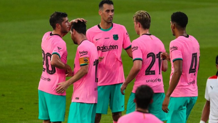 Лионел Меси с два гола при победа на Барселона в контрола