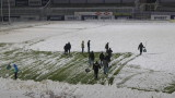 По идея на Томаш - Етър тренира с чистене на сняг
