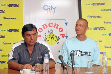 Валентин Димов тренирал до Федерер