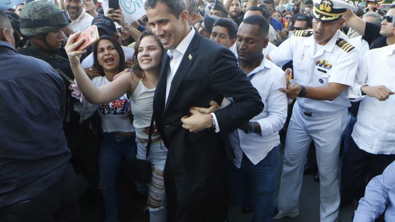 Гуайдо призовава към протести в понеделник