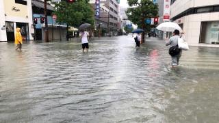 Проливният дъжд в Южна Япония предизвика наводнения и взе жертви